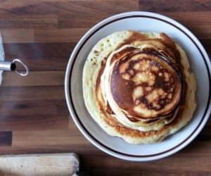 pancake al cioccolato fondente e spalmabile Arla