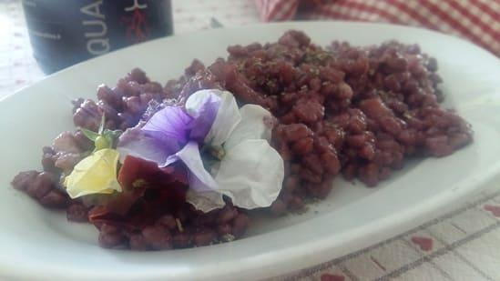 Farrotto al lambrusco parmigiano - reggiano e pancetta affumicata