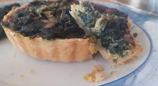 mini quiche ortiche e parmigiano