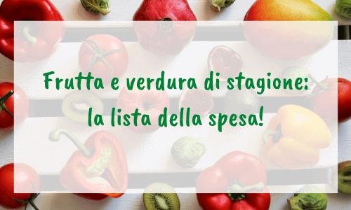 lista della spesa per frutta e verdura