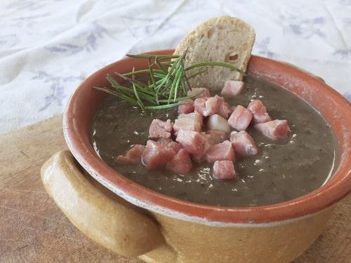 minestra di lenticchie e prugne secche